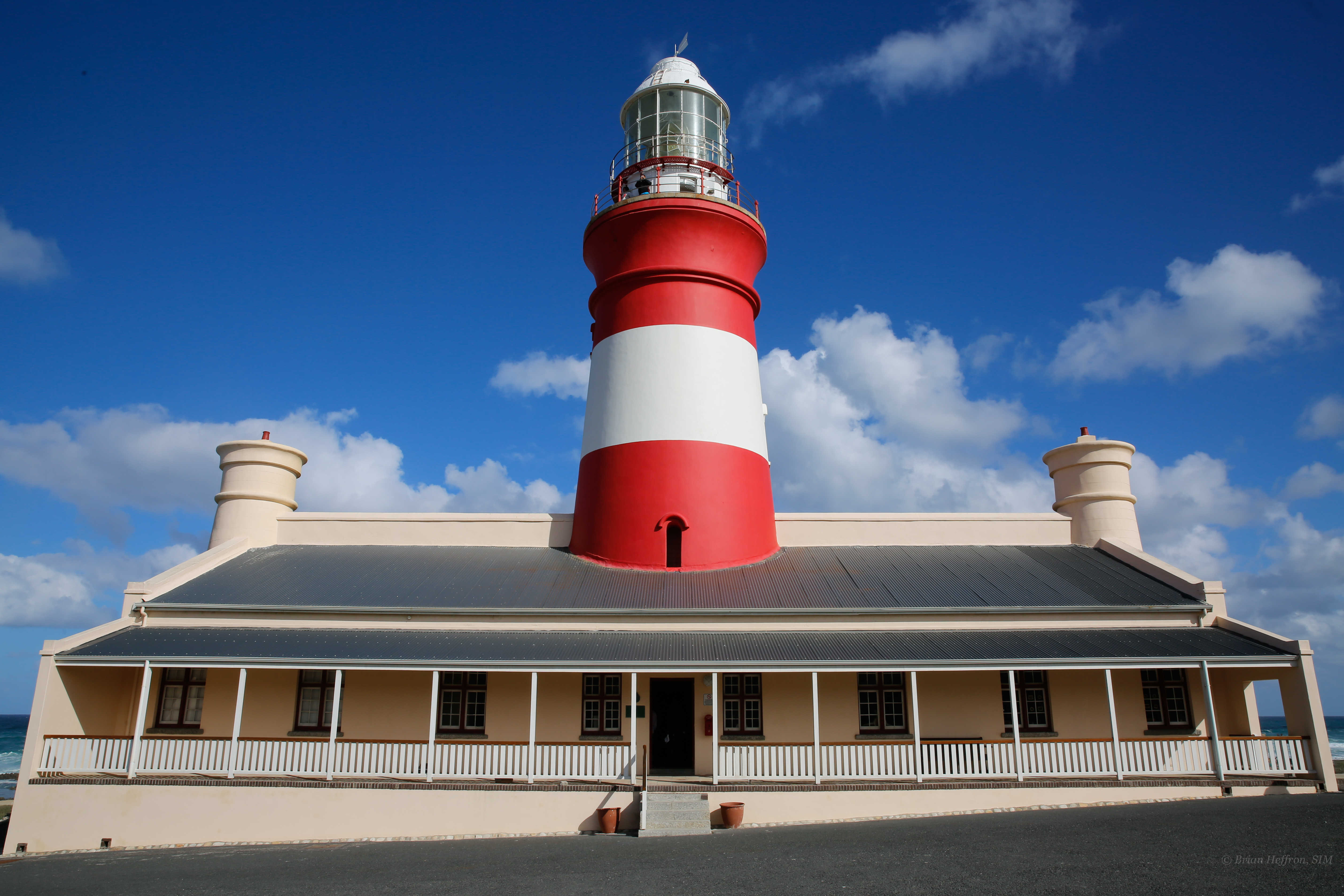 The Cape Agulhas light house reminds us to always rely on God's steadfast light and guidance in any storm.
